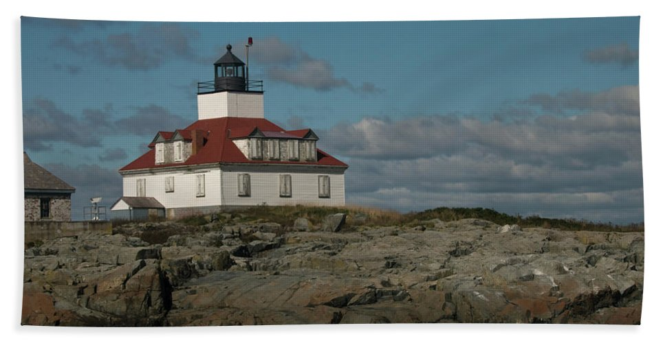 egg Rock Beach Towel featuring the photograph Welcome To Egg Rock by Paul Mangold
