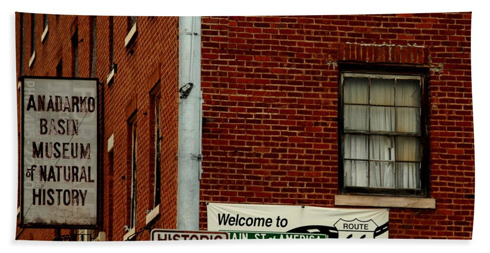 Landmark Beach Towel featuring the photograph Welcome To The Main Street Of America by Susanne Van Hulst