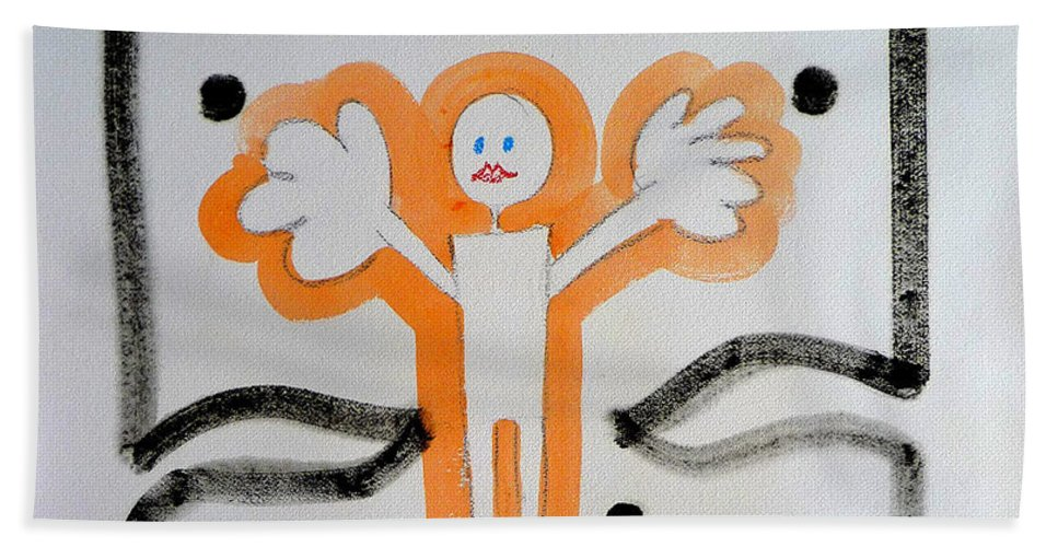 Drawing Beach Towel featuring the painting welcome to the U N by Charles Stuart