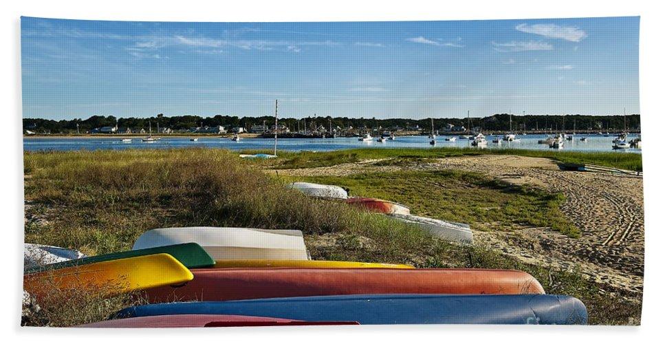 Cape Cod Beach Towel featuring the photograph Wellfleet Harbor Cape Cod by John Greim