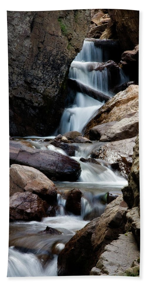 Creek Beach Towel featuring the photograph West Willow Creek 2 by Lana Trussell
