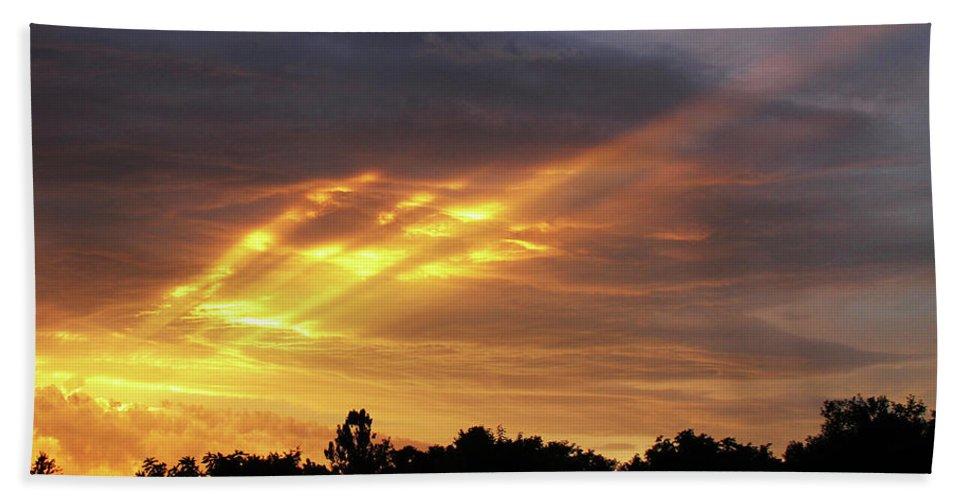 Brad Brailsford Beach Towel featuring the photograph Westbound by Brad Brailsford