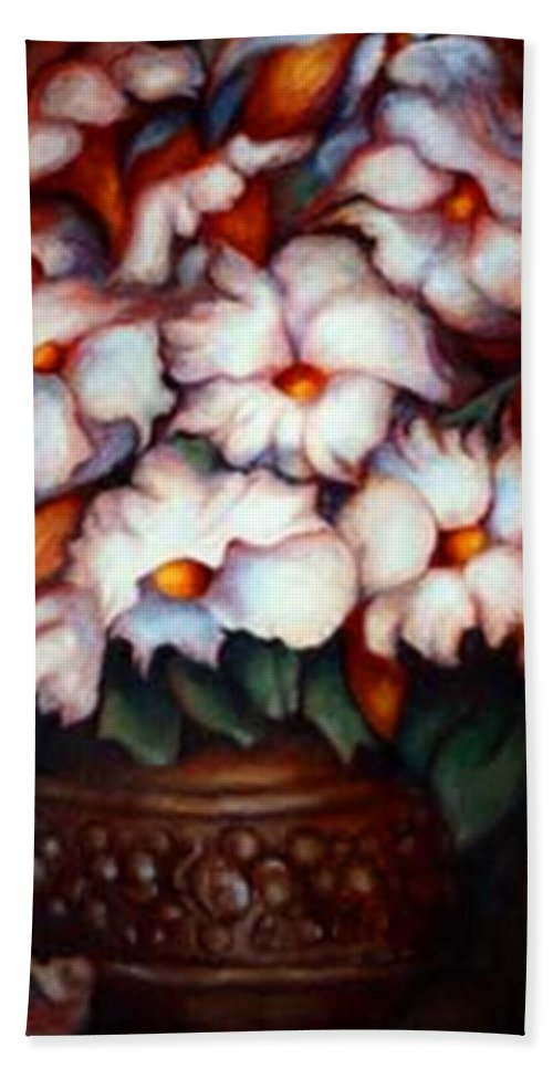 Flower Artwork Beach Towel featuring the painting Western Flowers by Jordana Sands