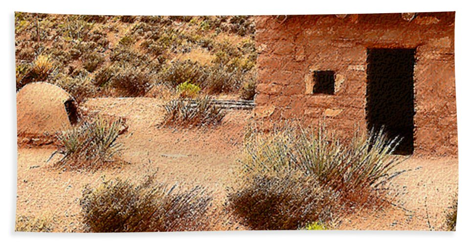 Homes Beach Towel featuring the photograph Western Homesteads by Angela L Walker