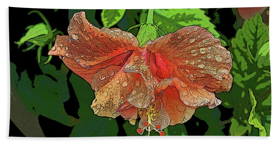 Flower Beach Towel featuring the photograph Wet Hibiscus by Craig Wood