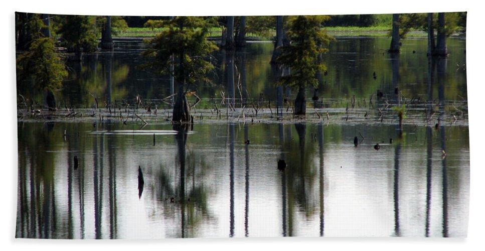 Wetlands Beach Sheet featuring the photograph Wetland by Amanda Barcon