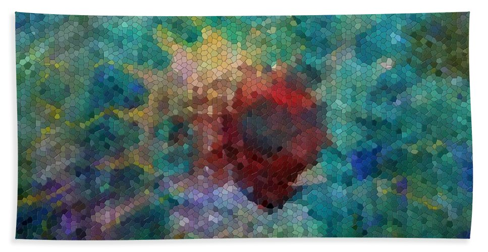 Mosaic Beach Towel featuring the digital art What A Bee Sees by Claire Bull