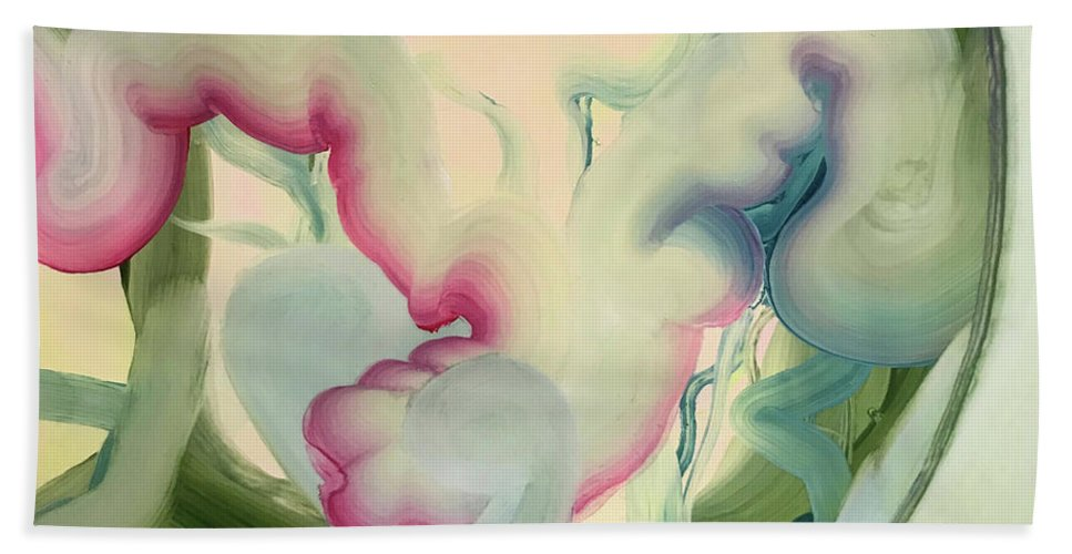 Surreal Beach Towel featuring the painting What They Made Me Swallow by April Zanne Johnson