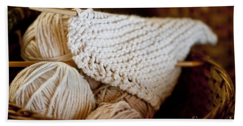 Yarn Beach Towel featuring the photograph What Will It Be by Wilma Birdwell