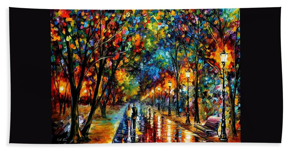Landscape Beach Sheet featuring the painting When Dreams Come True by Leonid Afremov