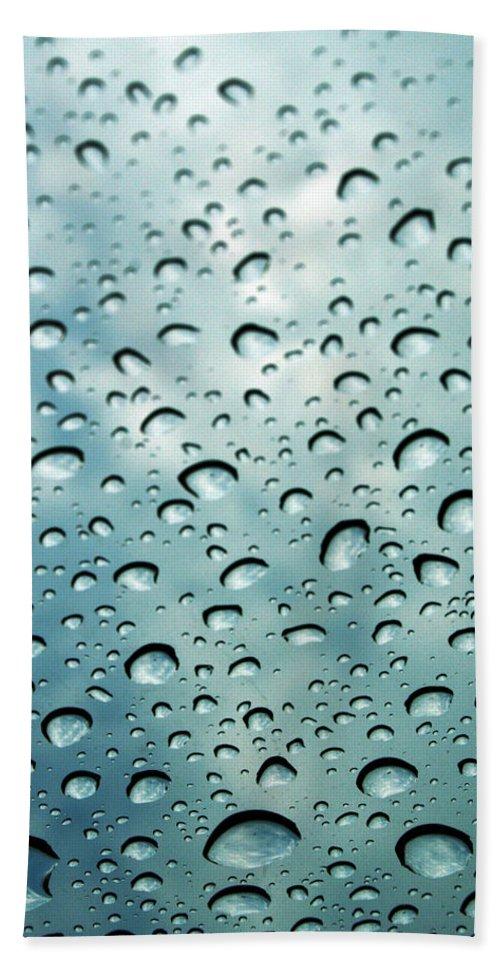 Photography Beach Towel featuring the photograph When The Rain Comes by Linda Sannuti