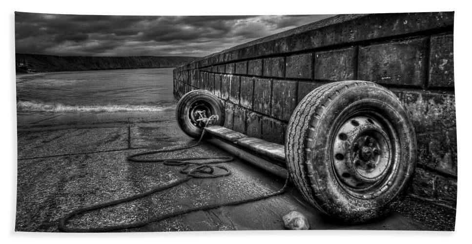 Tire Beach Towel featuring the photograph Where The Roads End... by Evelina Kremsdorf