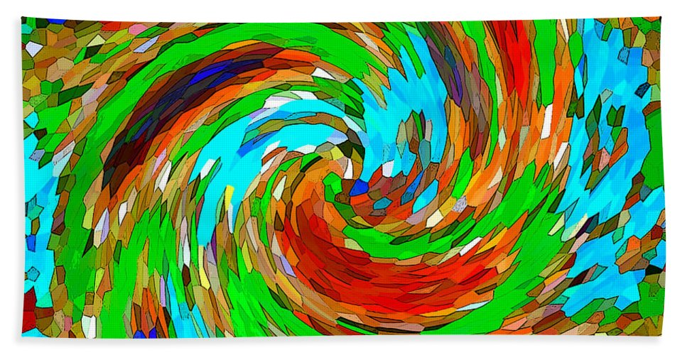 Abstract Beach Towel featuring the photograph Whirlwind - Abstract Art by Carol Groenen