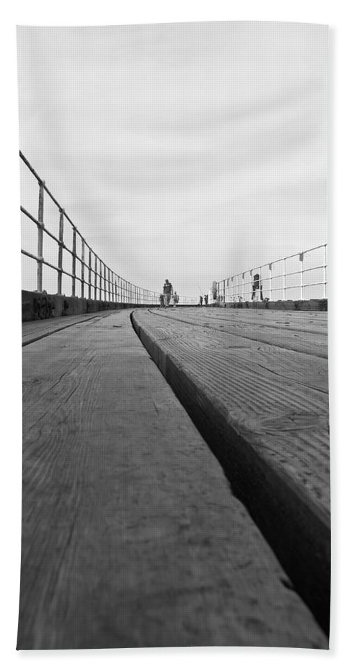 Whitby Pier Beach Towel featuring the photograph Whitby Pier by Svetlana Sewell