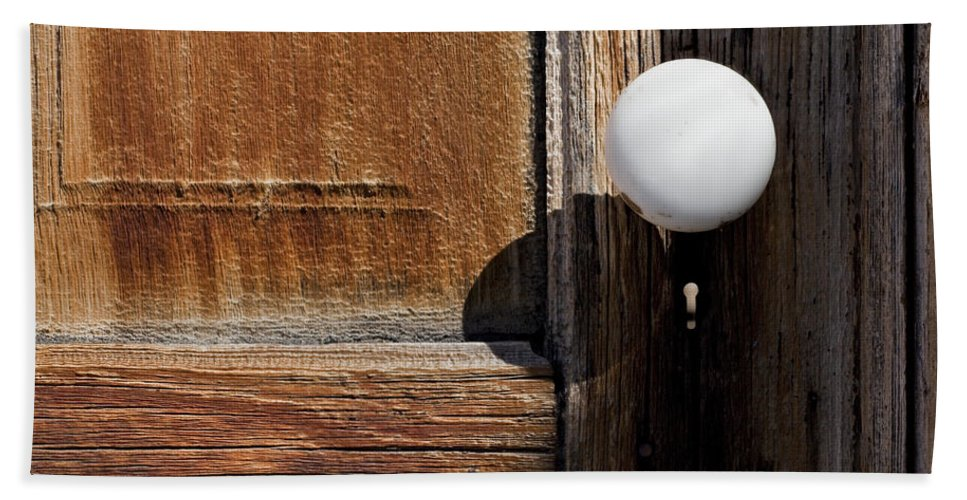 White Door Knob Beach Towel featuring the photograph White Knob by Kelley King