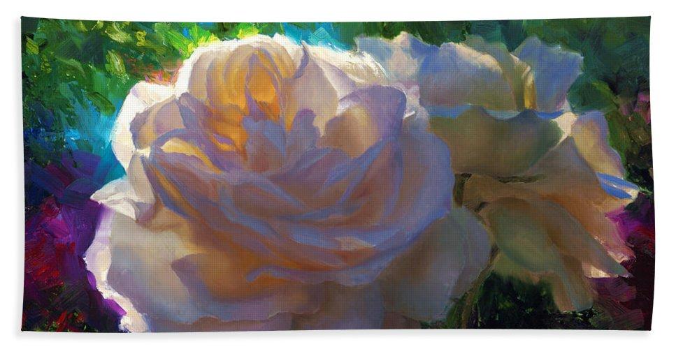 White Roses In The Garden Backlit Flowers Summer Rose Beach