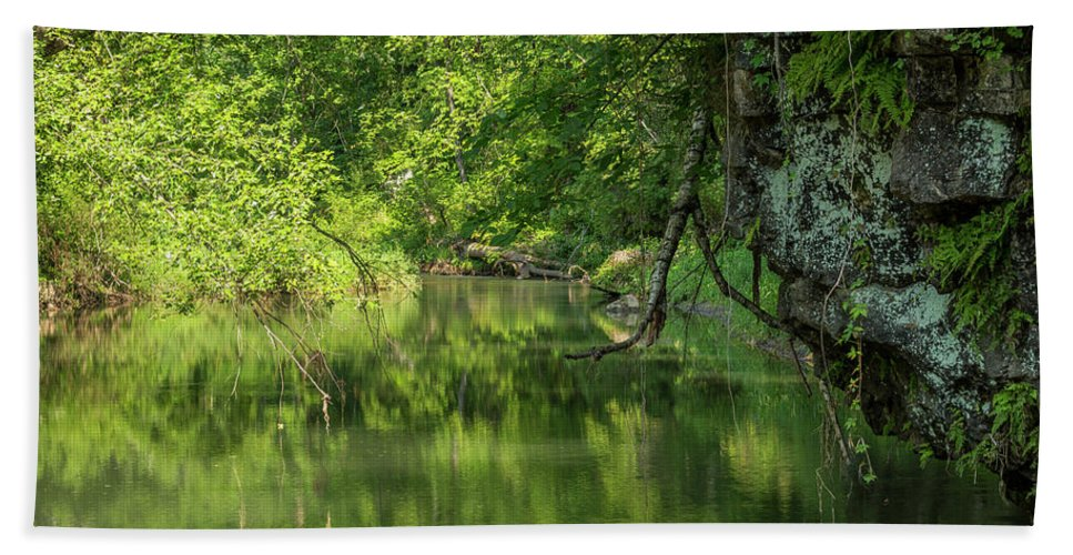 River Beach Towel featuring the photograph Whitewater River Scene 50 by John Brueske