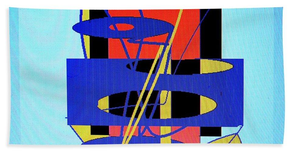 Abstract Beach Towel featuring the digital art Widget World by Ian MacDonald