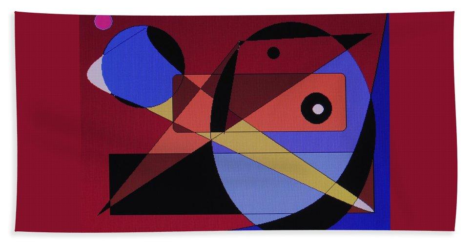 Abstract Bird Beach Towel featuring the digital art Wild Bird by Ian MacDonald