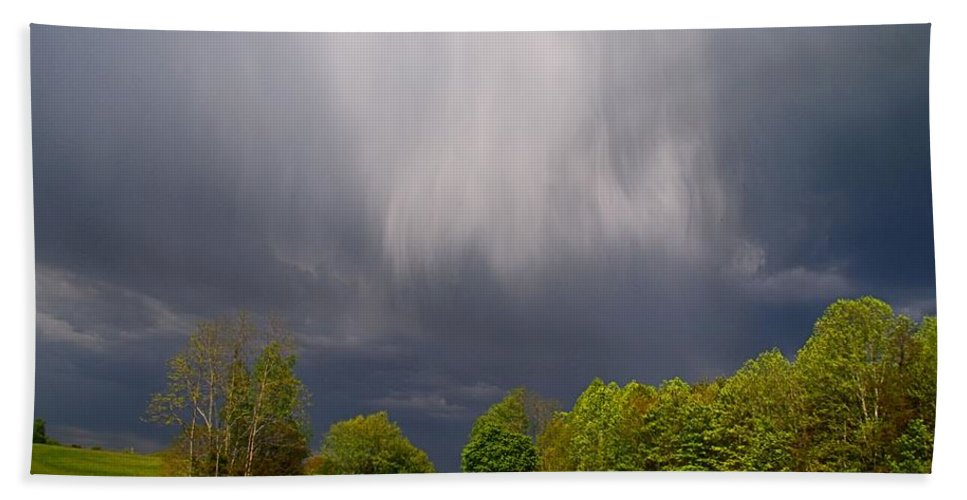 Sky Beach Towel featuring the photograph Wild Clouds by Kathryn Meyer