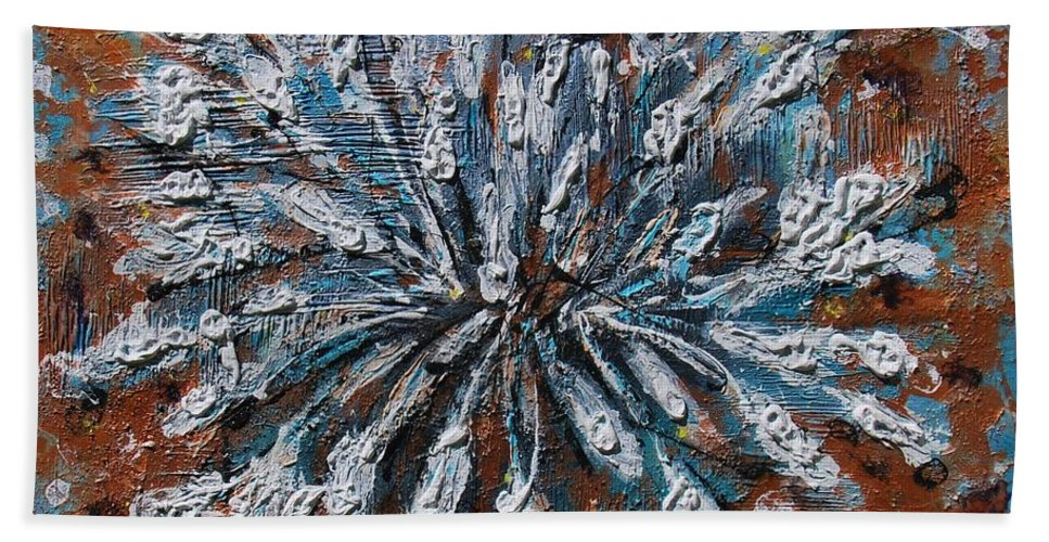 Acrylic Beach Towel featuring the painting Wild Lily by Mihai Banutoiu