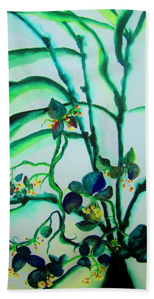 Wildflowers Beach Towel featuring the painting Wild Nature by Lil Taylor