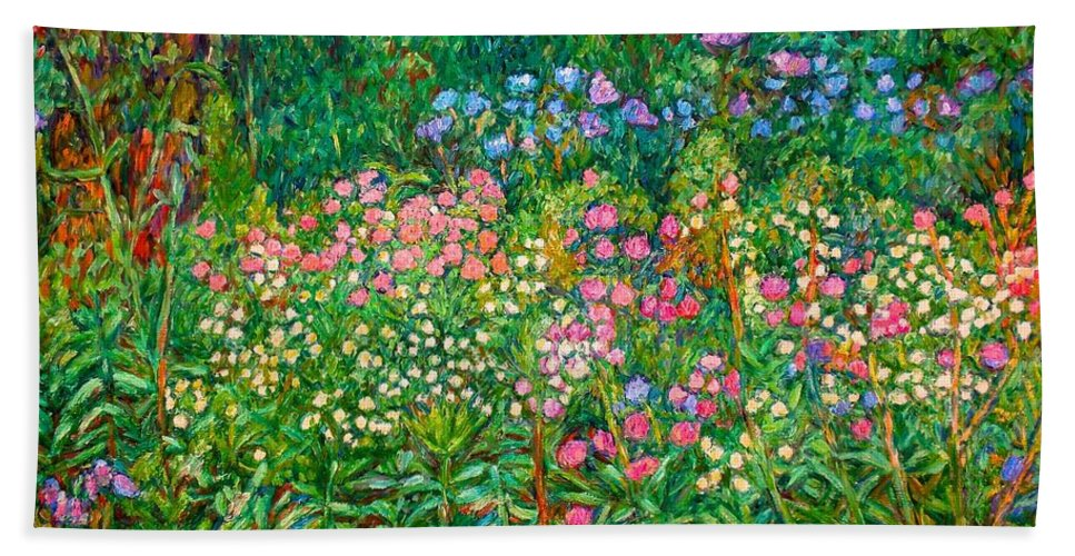 Floral Beach Sheet featuring the painting Wildflowers Near Fancy Gap by Kendall Kessler