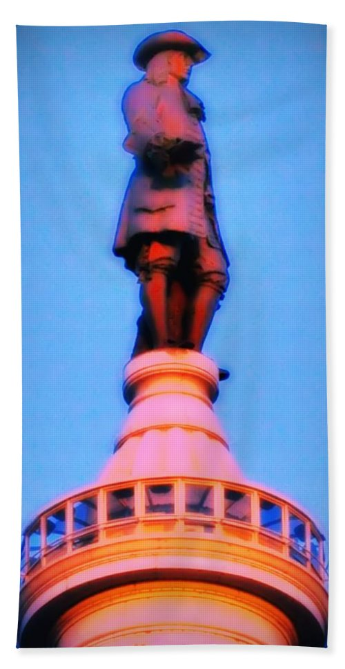 William Penn Beach Towel featuring the photograph William Penn - City Hall In Philadelphia by Bill Cannon