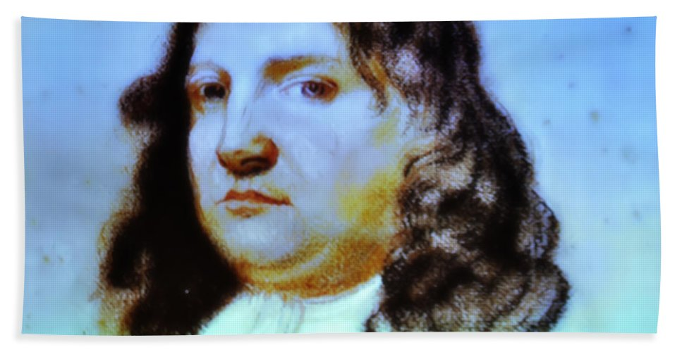 William Penn Beach Towel featuring the photograph William Penn Portrait by Bill Cannon