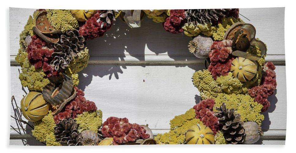 2014 Beach Towel featuring the photograph Williamsburg Wreath 29 by Teresa Mucha