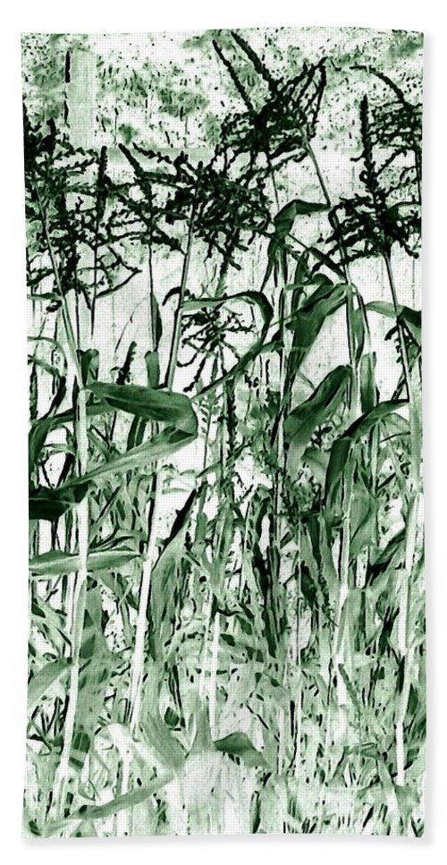 Wind In The Corn Beach Towel featuring the digital art Wind In The Corn by Will Borden