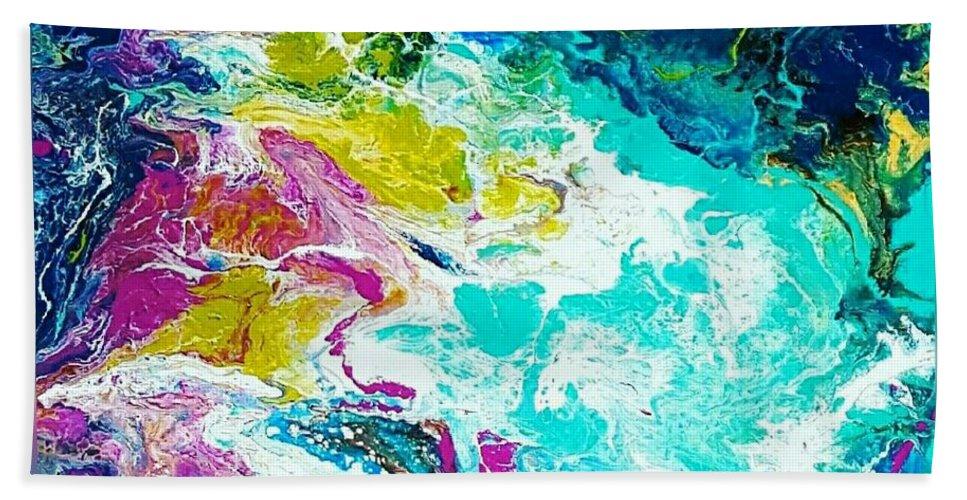 Beach Towel featuring the mixed media Wind by Rosemary Hadeed