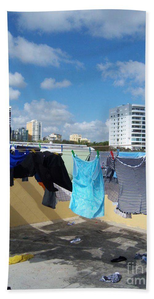 Roof Beach Towel featuring the photograph Wind Worn Rooftop by Heather Kirk