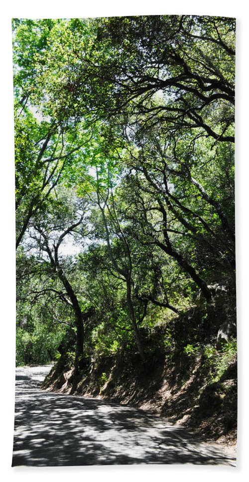 Winding Road Beach Towel featuring the photograph Winding Road Santa Ynez Mountains by Kyle Hanson