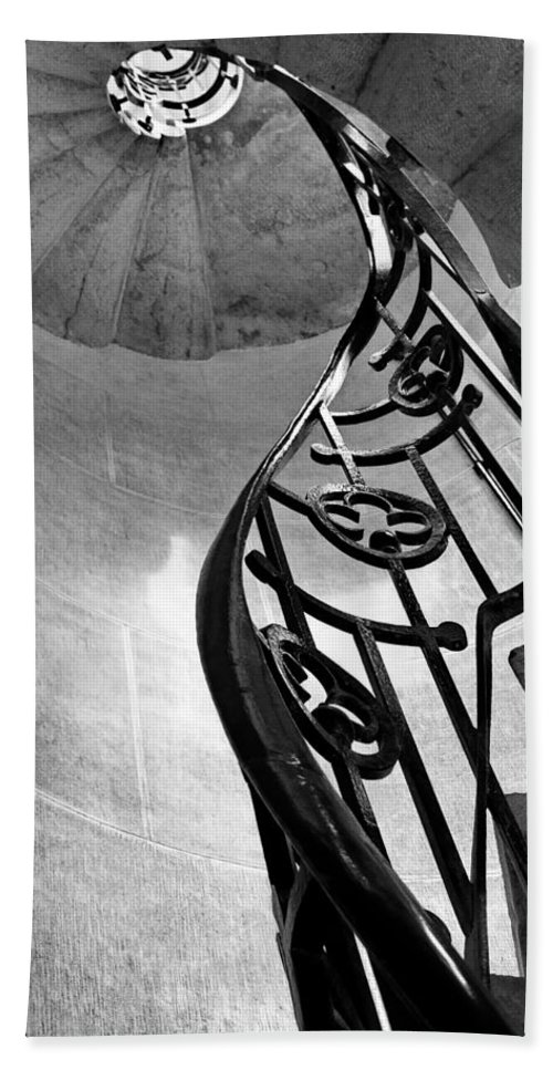 Stairs Beach Towel featuring the photograph Winding Stairs by Kristina Abramovic