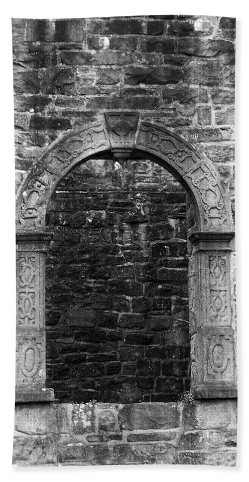 Irish Beach Sheet featuring the photograph Window At Donegal Castle Ireland by Teresa Mucha