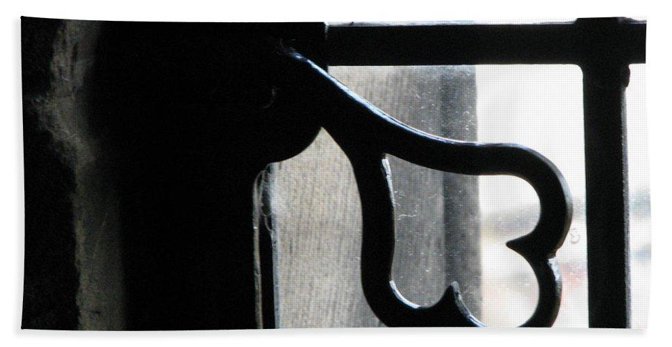 Edinburgh Beach Towel featuring the photograph Window Latch by Amanda Barcon