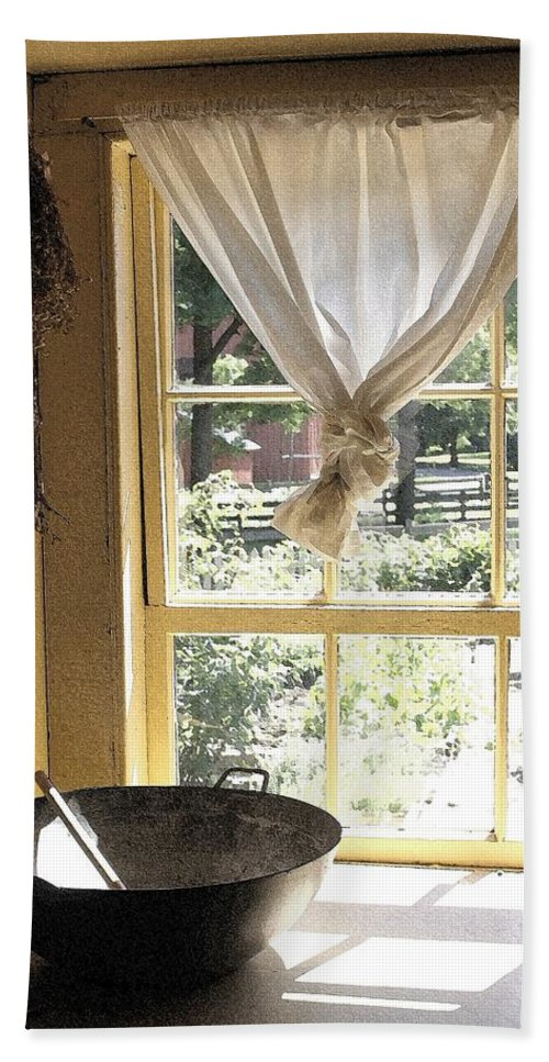 Window Beach Towel featuring the photograph Window On Yesterday by Nelson Strong
