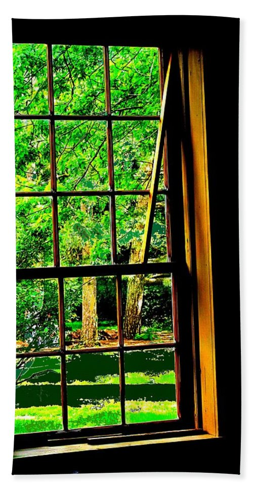 Window Beach Towel featuring the photograph Window To My World by Ian MacDonald