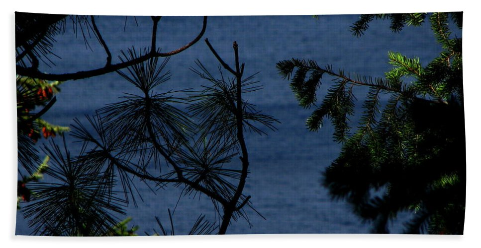 Patzer Beach Towel featuring the photograph Window To The River by Greg Patzer