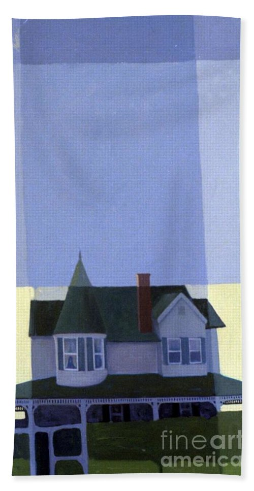 Victorian House Beach Towel featuring the painting Windows by Donald Maier