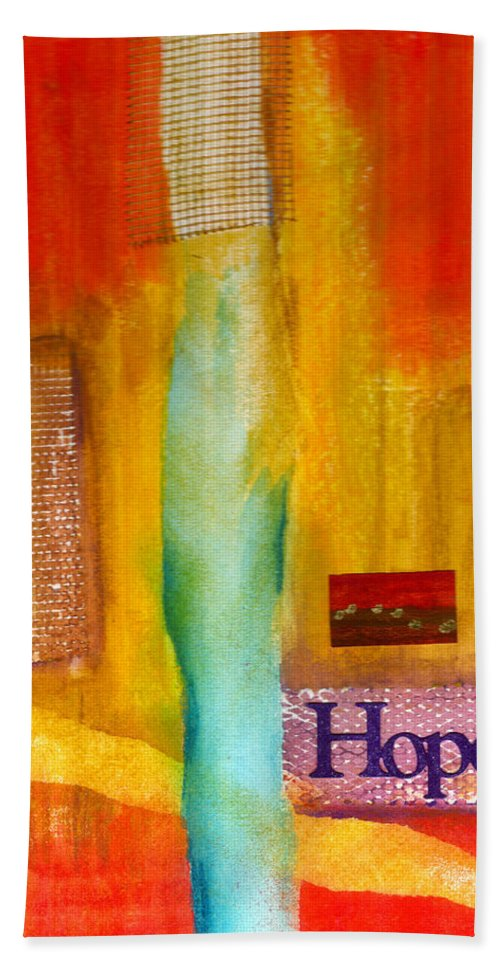 Gretting Cards Beach Towel featuring the mixed media Windows Of Hope by Angela L Walker