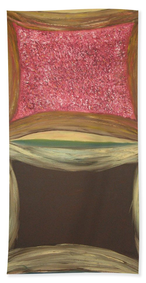 Soul Beach Towel featuring the painting Windows On The Soul by Michael Benjamin