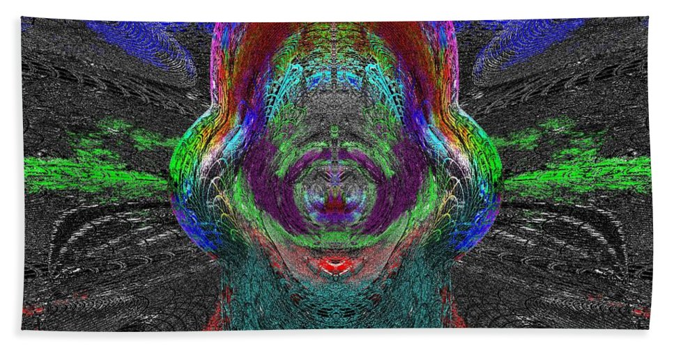 Abstract Beach Towel featuring the digital art Windows To Your World by Tim Allen
