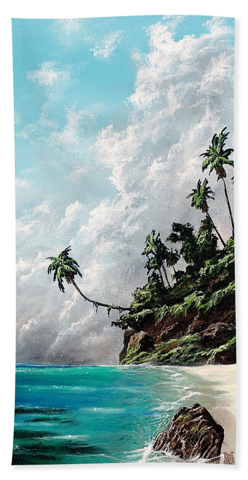 Seascape Beach Towel featuring the painting Winds Of Change by Marco Antonio Aguilar