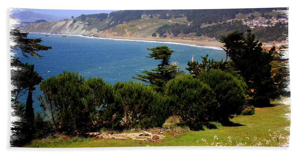 San Francisco Bay Beach Towel featuring the photograph Windswept Over San Francisco Bay by Carol Groenen