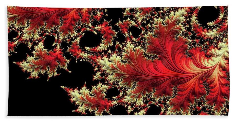 Botanical Fractal Beach Towel featuring the digital art Windswept by Susan Maxwell Schmidt
