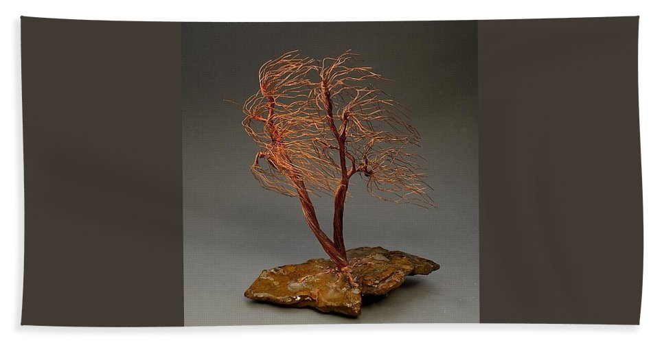 Windswept Weeping Willow Copper Wire Tree Art Sculpture - 2258 ...