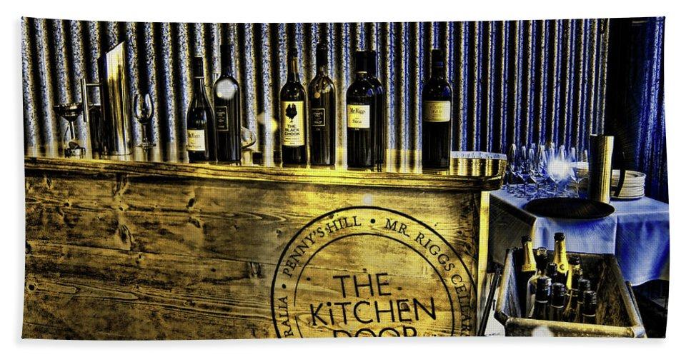 Wine Beach Towel featuring the photograph Wine Bazaar by Douglas Barnard