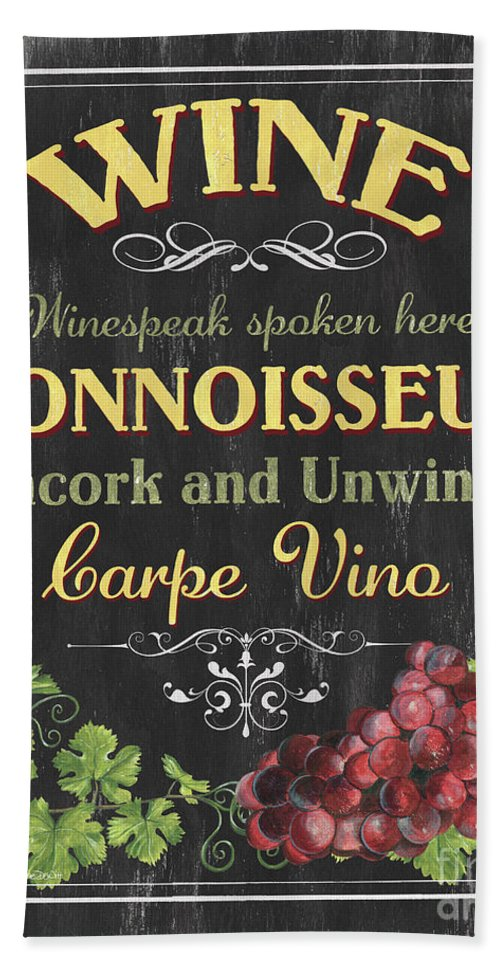 Wine Beach Sheet featuring the painting Wine Cellar 2 by Debbie DeWitt
